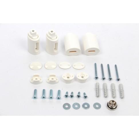 Calorifer baie Radox Round, portprosop, curbat, alb,  450 x 1500 mm  + accesorii montaj