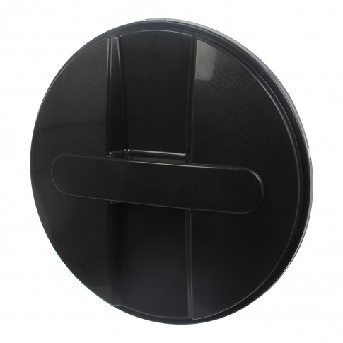 Capac pentru butoi 500 litri Dolplast, polietilena, negru, D 104.5 cm