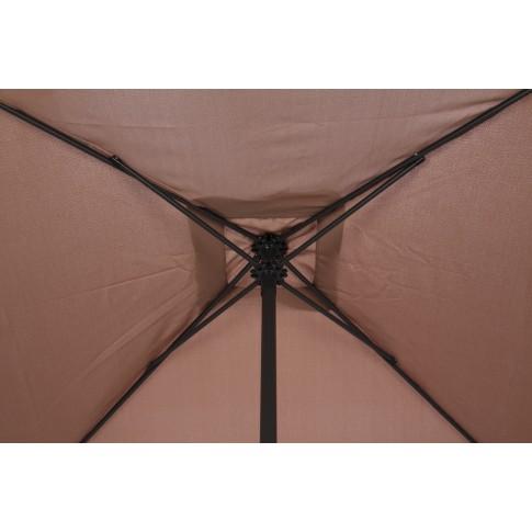 Umbrela soare pentru terasa SPU-00022 patrata structura metal maro 200x200 cm