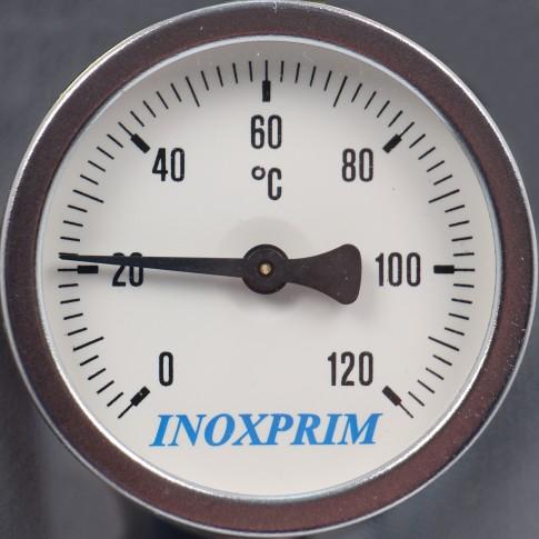 Boiler pe lemne INX 110S, de baie, cu serpentina, 110 L