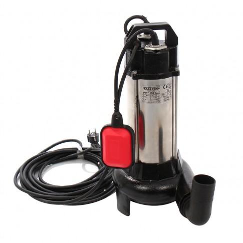 Pompa submersibila ape murdare Wasserkonig PST 1100, cu tocator + flotor, 16.8 mc/h, H max. 8.2 m, 2850 RPM, 1100 W