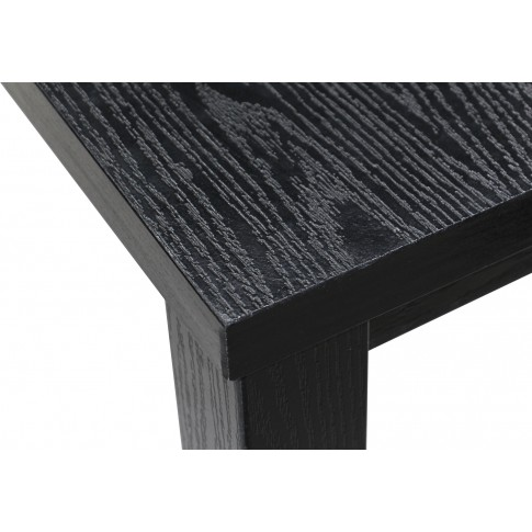 Masa bucatarie fixa Torino, dreptunghiulara, 6 persoane, neagra, 210 x 100 x 78 cm, 1C