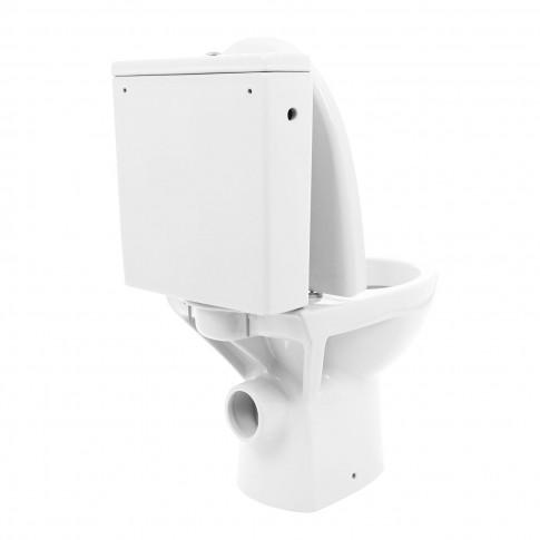 Set vas WC + rezervor + mecanism + capac Cersanit Parva K27-001, din ceramica, 35 x 61 x 78 cm