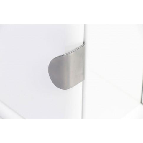 Dulap baie cu oglinda, iluminare si polita, 1 usa, stanga, Roma, alb, 69 x 14.5 x 90.5 cm