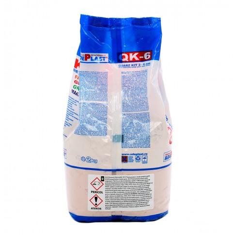 Chit de rosturi gresie si faianta Adeplast Quarz Kit QK - 6, bej, interior / exterior, 2 kg