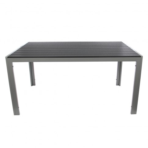 Masa fixa pentru gradina Kansas, metal + plastic, dreptunghiulara, 6 persoane, 150 x 90 73 cm