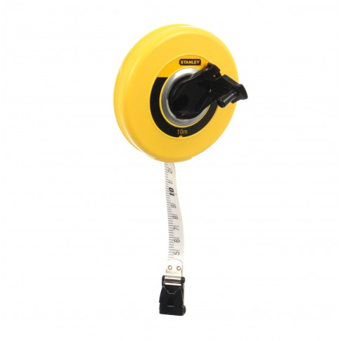 Ruleta cu banda din fibra de sticla, Stanley 0-34-295, 10 m