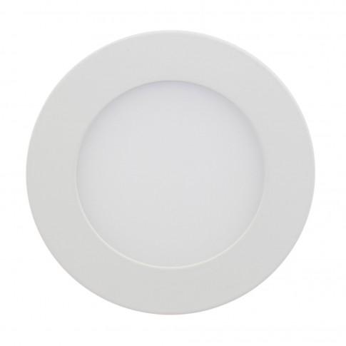 Spot LED incastrat Hoff, 6W, lumina neutra, alb, D120 mm