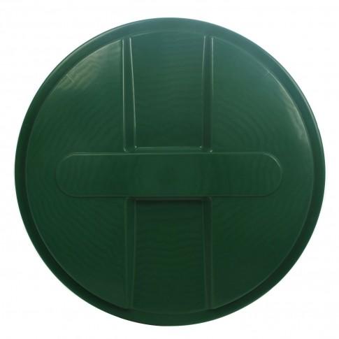 Capac pentru butoi 750 litri Dolplast, polietilena, verde