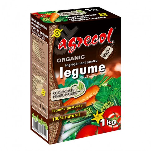 Ingrasamant organic pentru legume Agrecol, granule, 1 kg