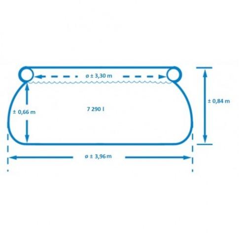 Piscina gonflabila, Intex Easy Set 28142NP, cu pompa filtrare, 396 x 84 cm
