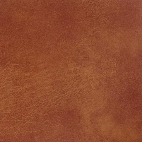 Scaun bucatarie / living fix Arco, tapitat, metal cromat + imitatie piele cognac, 2C