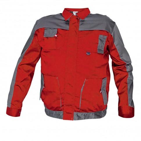Jacheta de lucru Asimo, poliester + bumbac, rosu, cu buzunare, marimea 54