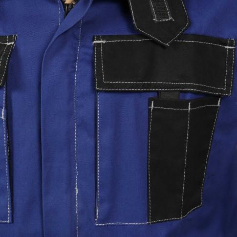 Jacheta de lucru Athos, bumbac, albastru + negru, cu fermoar, marimea 50