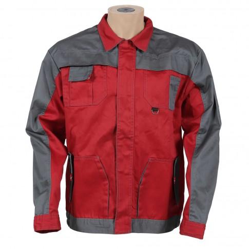 Jacheta de lucru Asimo, poliester + bumbac, rosu, cu buzunare, marimea 50