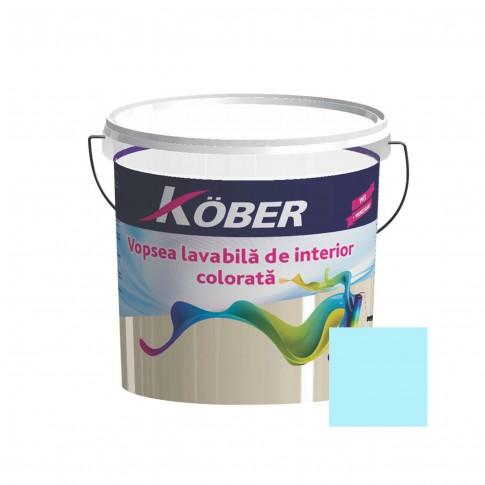 Vopsea lavabila interior, Kober, azuriu V8360, 8.5 L