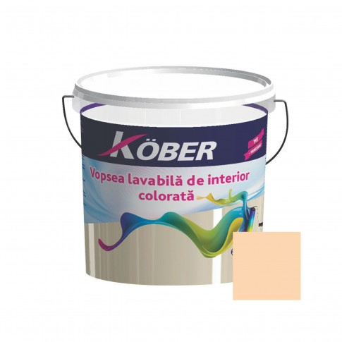 Vopsea lavabila interior, Kober, orange luminos V8335, 8.5 L