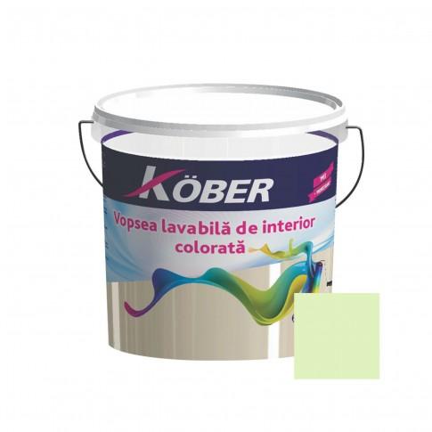 Vopsea lavabila interior, Kober, verde mar V8355, 8.5 L