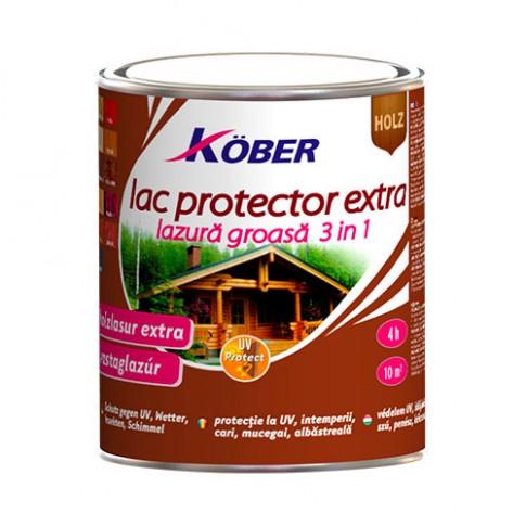 Lac / lazura extra 3 in 1 pentru lemn, Kober Extra, stejar inchis, interior / exterior, 0.75 L