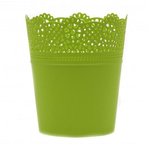 Ghiveci din plastic Lace, lime D 16 cm