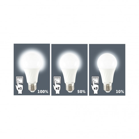 Bec LED Home LKD 10/27H clasic E27 10W 810lm lumina neutra 4200 K, cu reglare luminozitate