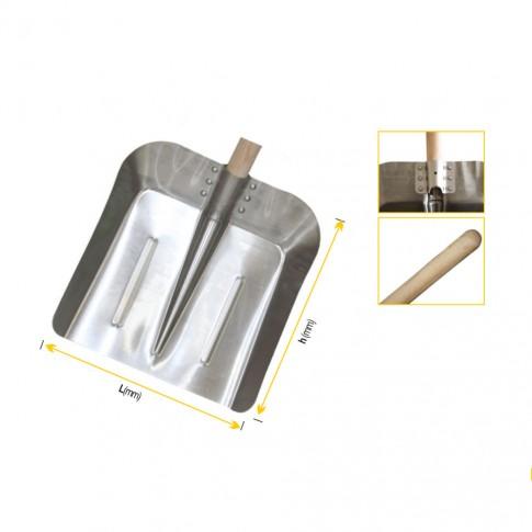Lopata pentru zapada, aluminiu, Lumytools 35 884, cu coada lemn, 130 cm
