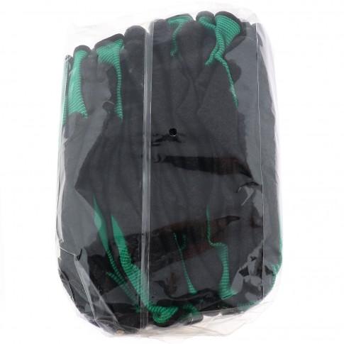 Manusi de protectie Hobbyst LT609H, din poliester + latex, marimea M, 12 perechi / set