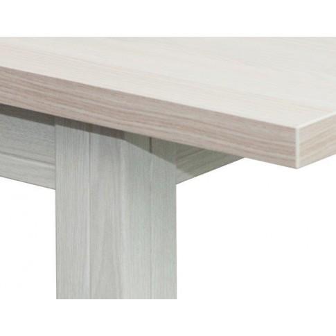 Masa bucatarie extensibila Consuela, dreptunghiulara, 6 persoane, stejar albit, 134 / 186 x 80 x 76 cm, 1C