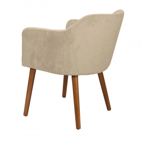 Scaun bucatarie / living fix Alice, tapitat, lemn gri / maro + stofa diverse culori
