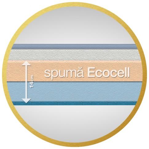 Saltea pat Dormeo Royal, cu spuma memory + Ecocell, fara arcuri, 80 x 200 cm