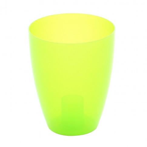 Ghiveci din plastic, pentru orhidee, Miltonia, verde transparent D 13.3 cm