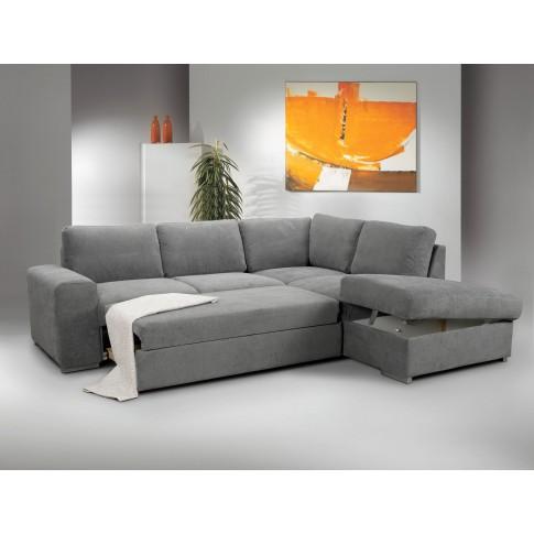 Coltar living extensibil pe stanga MM204 2F-OTM/BK, cu lada, gri deschis, 248 x 213 x 89 cm, 2C