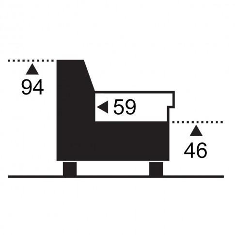 Coltar living extensibil pe dreapta MM201 OTM/BK KL-2F, 241 x 173 x 94 cm, 2C