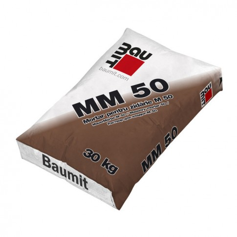 Mortar pentru zidarie, Baumit MM 50, gri, interior / exterior, 30 kg