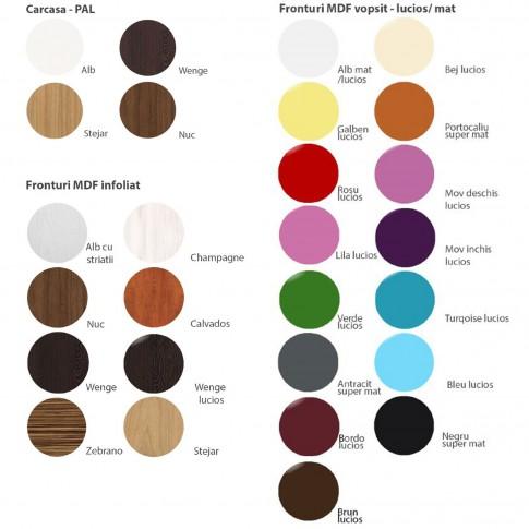 Dulap bucatarie Martplast 3008(1), pentru cuptor, diverse culori, 2 usi, 60 x 60 x 214 cm