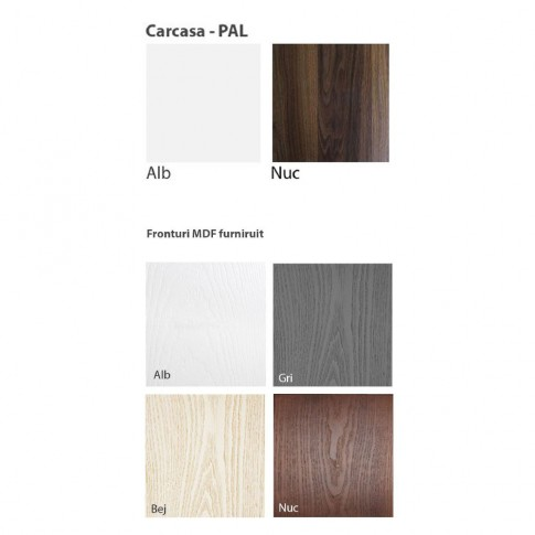 Dulap bucatarie Martplast 3008, furnir diverse culori, 2 usi, 60 x 60 x 214 cm