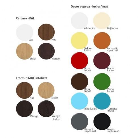 Polita PAL, perete, Valentino 800 LV8, diverse culori, 80 x 20 x 10 cm, 1C