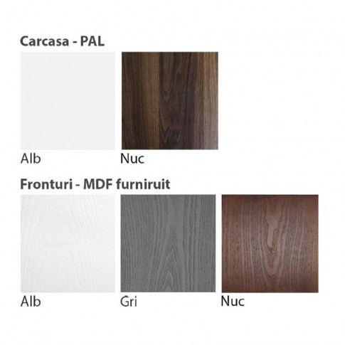 Dulap dormitor Stefan DS18, furnir diverse culori, 2 usi glisante, 180 x 55 x 225 cm, 3C