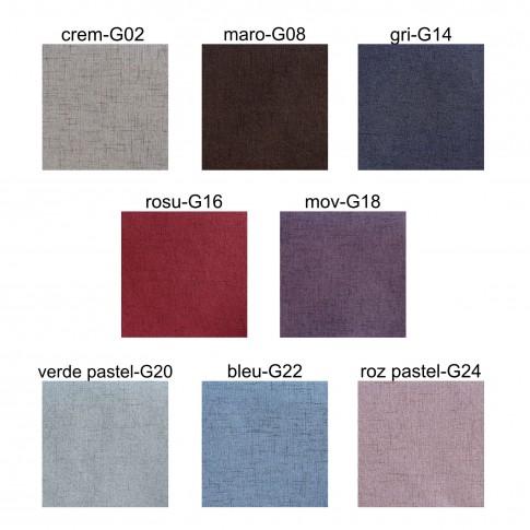 Taburet Box tip cub, cu spatiu depozitare, fix, patrat, stofa diverse culori, 37 x 37 x 41 cm