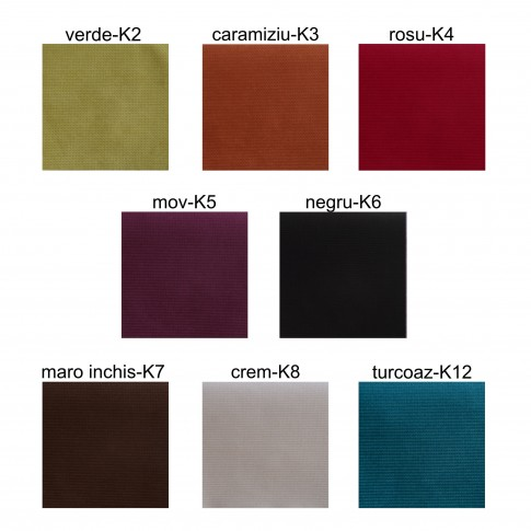 Fotoliu fix 2 locuri Iulia, stofa, diverse culori, 1C