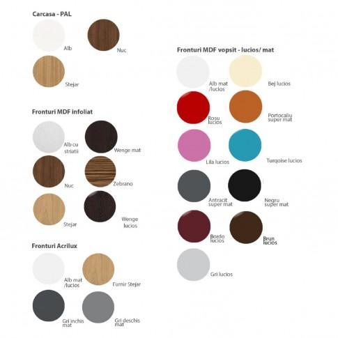 Corp superior bucatarie Martplast 1013, pe colt, diverse culori, 60 x 60 x 72 cm