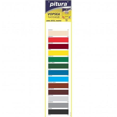 Vopsea alchidica pentru lemn / metal / zidarie, lucioasa, Pitura, interior / exterior, alb polar, 0.6 L