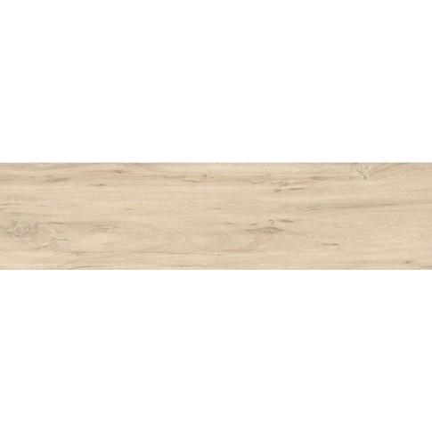 Gresie exterior / interior portelanata rectificata Natura wood birch, lucioasa, crem, 22 x 90 cm