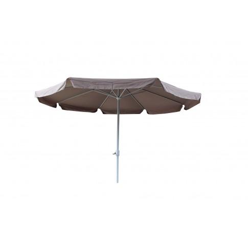 Umbrela soare pentru terasa NFAU-1104 rotunda structura metal crem 350 x 250 cm