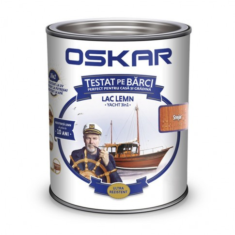Lac pentru lemn Oskar Yacht, stejar, interior / exterior, 2.5 L