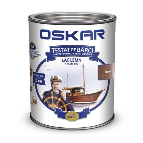 Lac pentru lemn Oskar Yacht, wenge, interior / exterior, 2.5 L