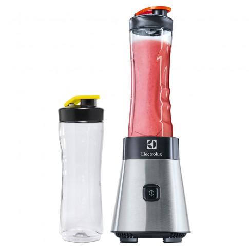 Blender Electrolux Sport ESB2500, 300 W, 1 treapta de viteza, 0.6 l, 2 recipiente gradate din plastic, argintiu + negru