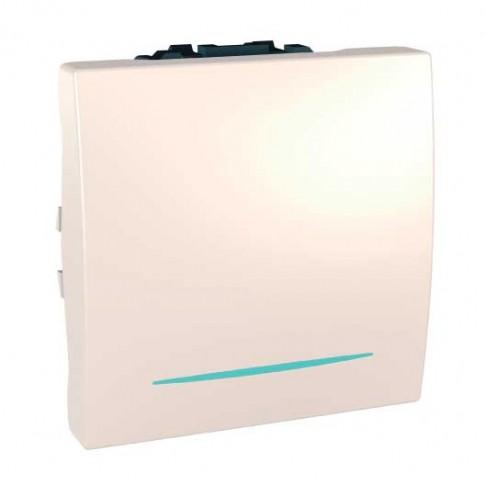 Intrerupator simplu cu indicator luminos Schneider Electric Unica MGU3.261.25N, incastrat, modular - 2, fildes