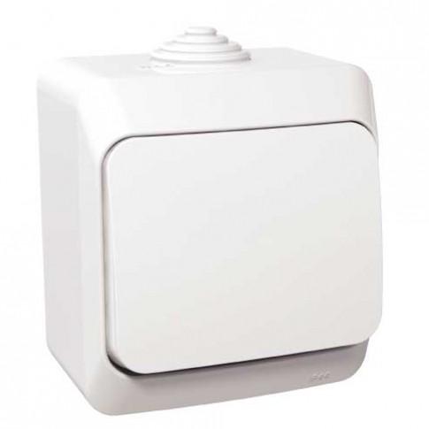 Intrerupator cap scara simplu Schneider Electric Cedar WDE000560, aparent, alb