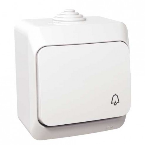 Intrerupator cu revenire si simbol sonerie, Schneider Electric WDE000512, aparent, alb